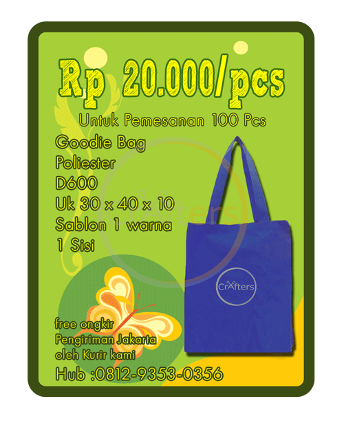 jual goodie bag murah, goodie bag d 600, goodie bag poliester, jual goodie bag